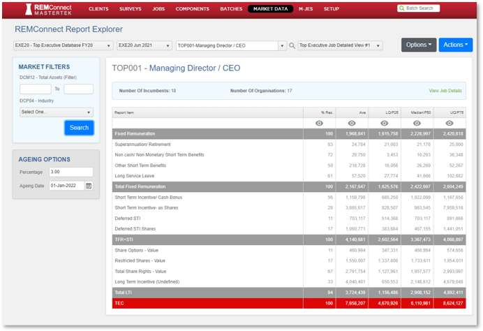 REMConnect Report View EXEC20 210630